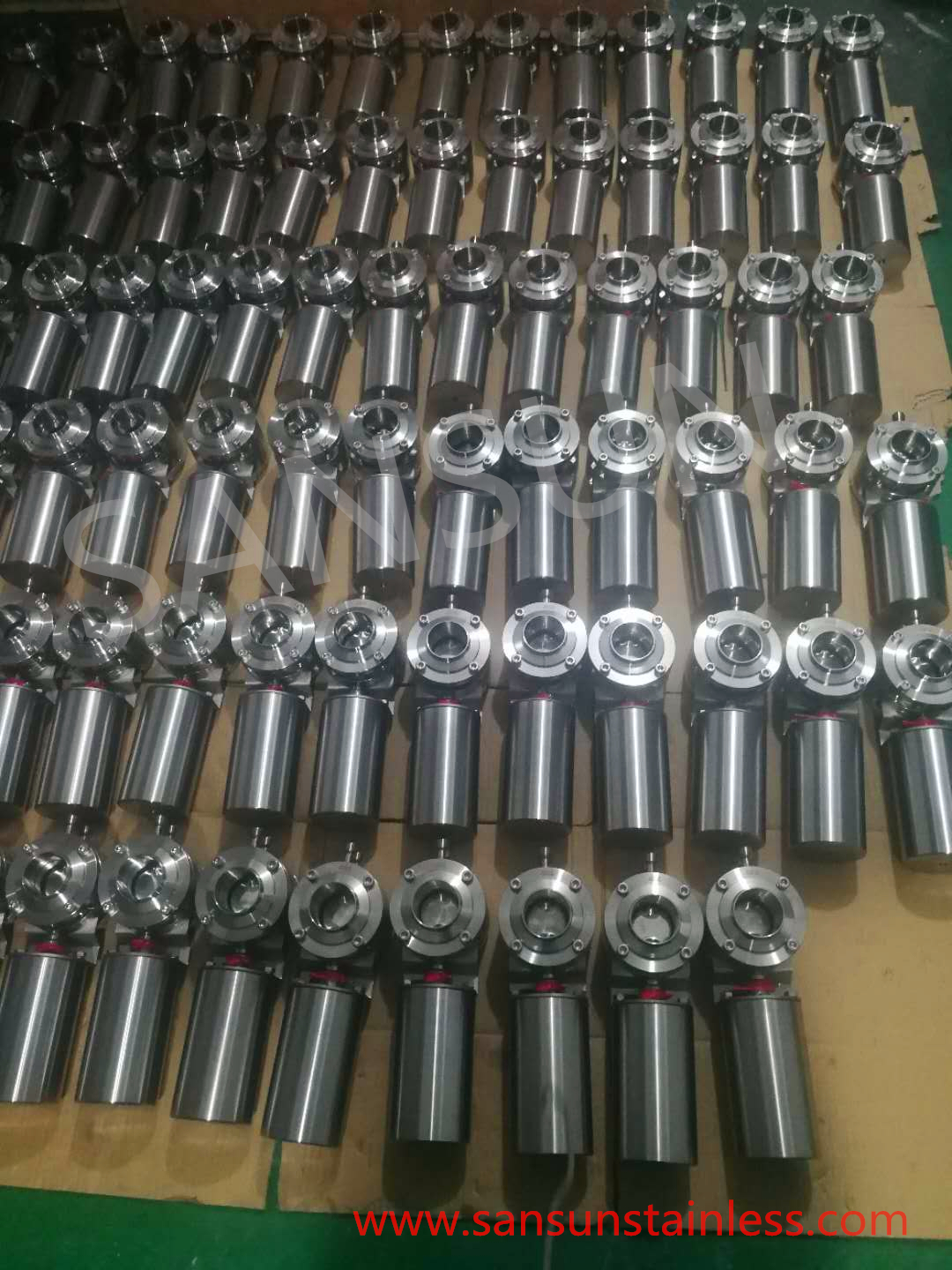 Manufacturer-stainless-steel-sanitary-mixing- proof -butterfly- valve